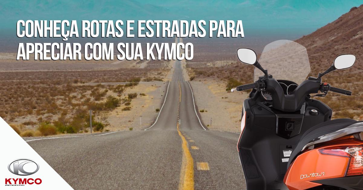 imagem que mostra a kymco e uma estrada
