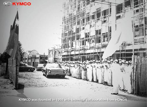 foto da primeira fabrica de scooters kymco