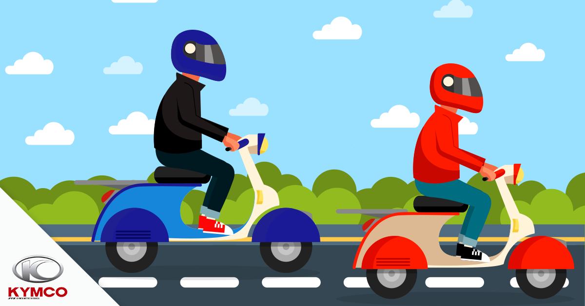 Imagem ilustrativa de pilotos no dia a dia utilizando modelos de capacete diferentes