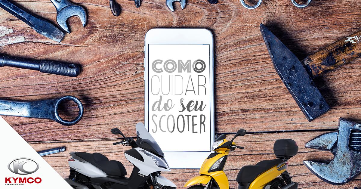 imagem ilustrativa de como cuidar do seu scooter com ferramentas