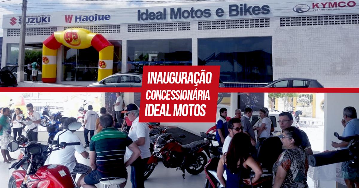 Imagem de destaque com fotos da Ideal Motos