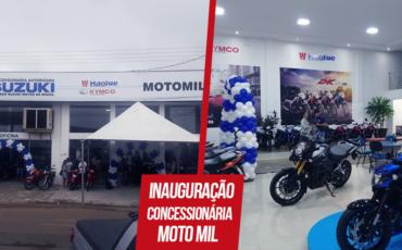 Imagem da fachada e showroom da Moto Mil